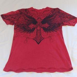 Affliction Live Fast Men's Graphic T-Shirt Size M